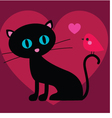 cat and bird valentine vector image