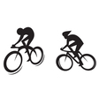 Cyclist silhouette vector image