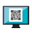 Quick response code isolated icon vector image