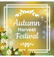 Autumn harvest festival vector image