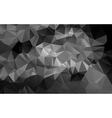 Black and white abstract background polygon vector image