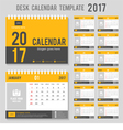 Calendar template for 2017 vector image