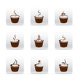 Coffee icon set vector image