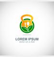 organic food fitness logo vector image
