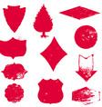 Set of Stamps Red Stamps Grunge Rubber Texture vector image