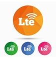 4G LTE sign Long-Term evolution symbol vector image