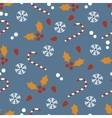 Seamless pattern with Christmas candies and vector image vector image