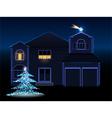 christmas house vector image