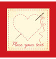 heart embroidery vector image