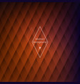 abstract rhombic orange background vector image