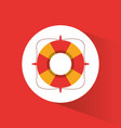 lifebuoy safety vacations symbol vector image