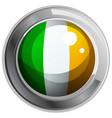 ireland flag on round badge vector image