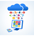 copmutre desktop table pc media social icon set vector image