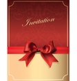 Vintage Invitation card with Bow vector image