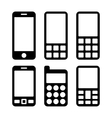 Mobile Phones and Smartphones Icons Set vector image