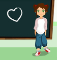 student on the chalkboard vector image