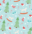 Blue New Year pattern vector image
