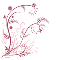 flora graphic background vector image
