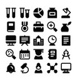 education solid icons 2 vector image