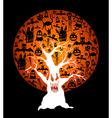 Happy Halloween full moon and spooky tree EPS10 vector image