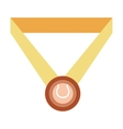 isolated sport medal vector image