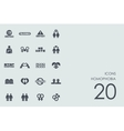 Set of homophobia icons vector image