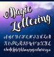 steam alphabet vector image