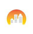 sunsite building cityscape logo vector image