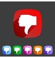 Thumbs down dislike icon flat web sign symbol logo vector image