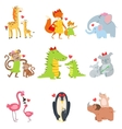 Small Animals And Their Moms Set vector image