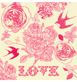 Vintage love textured backgrounds vector image vector image