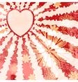 Red Grunge Valentine vector image vector image