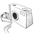 Analogue photo camera icon vector image vector image