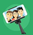 selfie with friends vector image