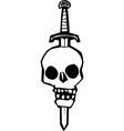 Skull Impaled on a Sword vector image vector image