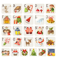 Christmas alphabet vector image vector image