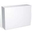 Package white box design isolated on white vector image