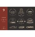 Set of vintage badges car club and garage vector image