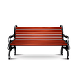 bench isolated vector image