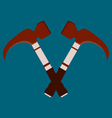 Crossed hammers Suitable for advertising vector image