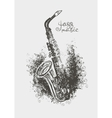 drawing of a saxophone vector image