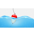 Float in transparent blue waves vector image