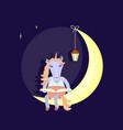 funny animal character vector image