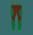 icon in flat design winter trousers vector image