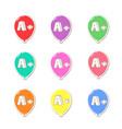 kids achievement set colorful vector image