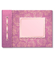Pink fabric cover a photo album vector image