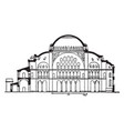 section of hagia sophia former patriarchal vector image