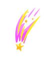 star meteor falling cartoon vector image