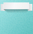 White sheet of paper on a flower pattern Origami vector image