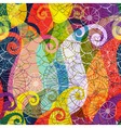 Seamless vivid colorful translucent pattern vector image vector image